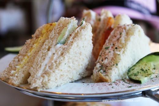 English Rose Tea sandwiches