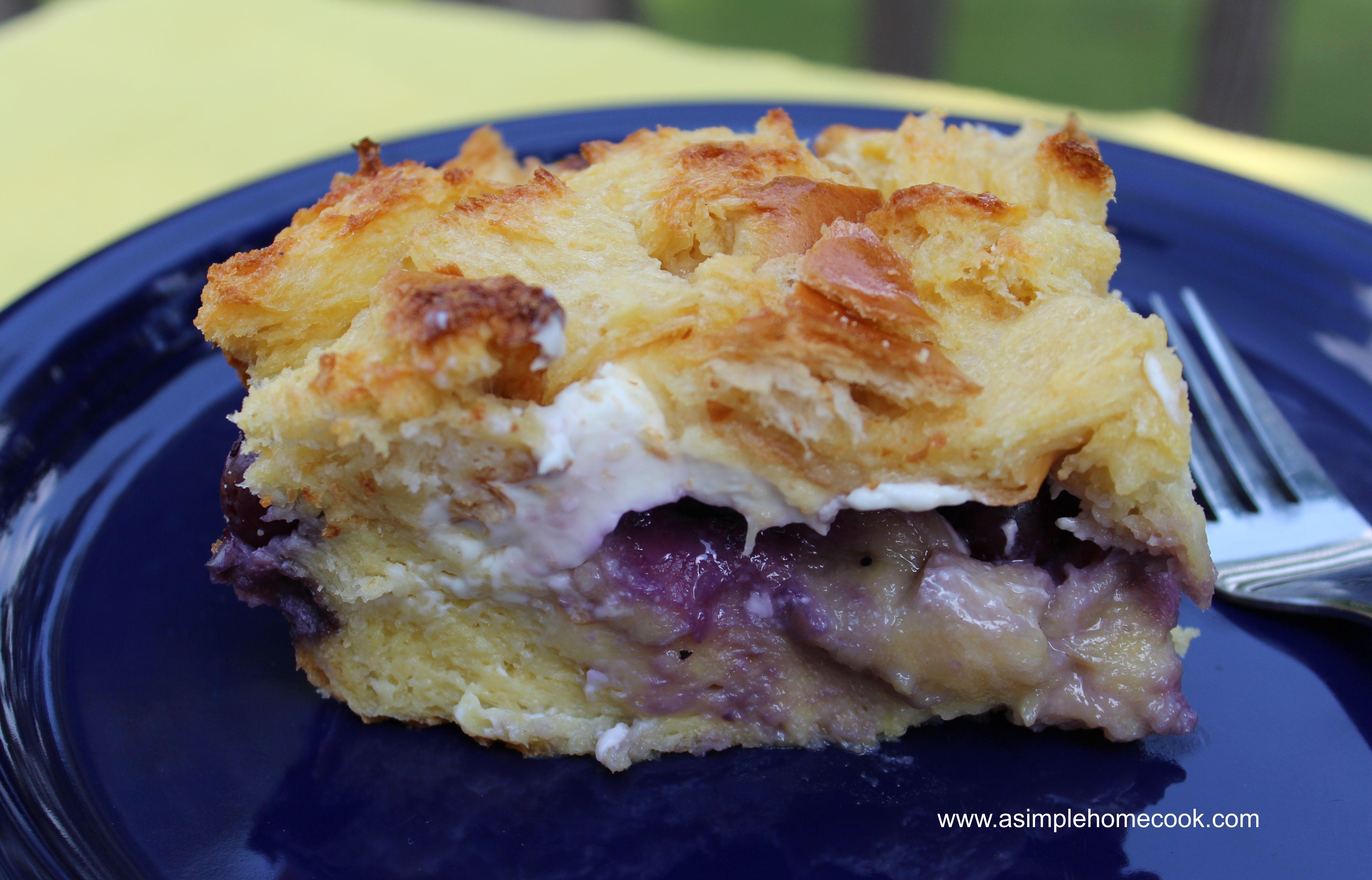 Blueberry Stuffed French Toast Casserole