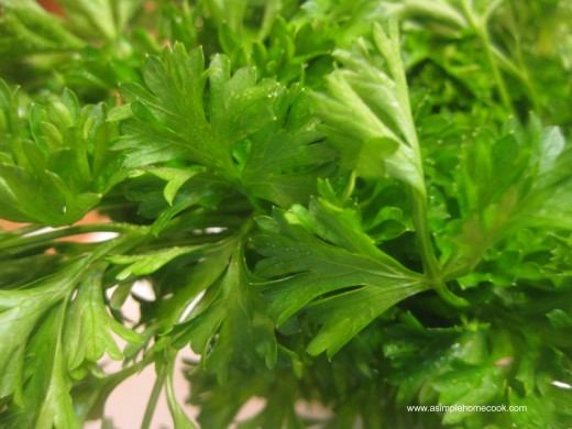 parsley after refrigeration for weeks