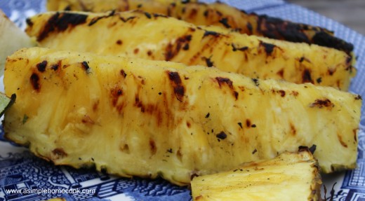 grilled fruit salad pineapple