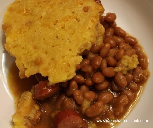 crockpot beanie weinie corn bread cass