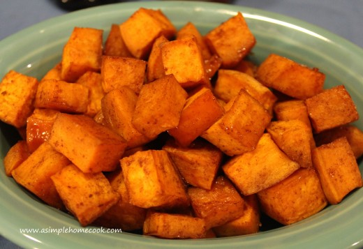 maple glazed roasted sweet potatoes