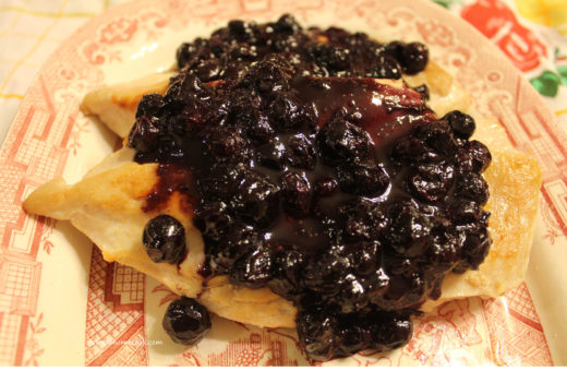 Chicken with Blueberry Sauce, Version 1