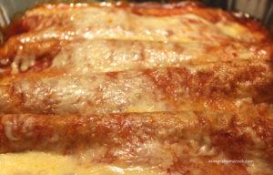 Quick Chicken and Bean Enchiladas