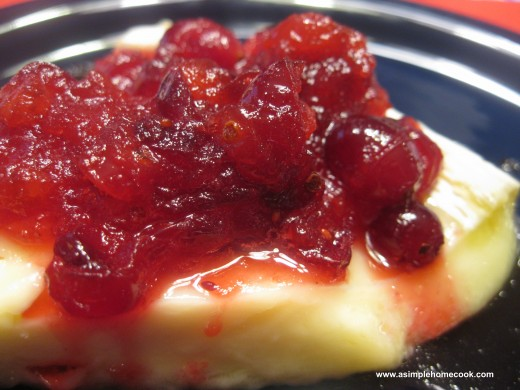 cranberry topped brie