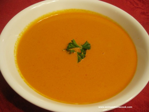 cream of roasted red pepper soup
