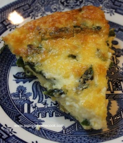 asparagus frittata slice