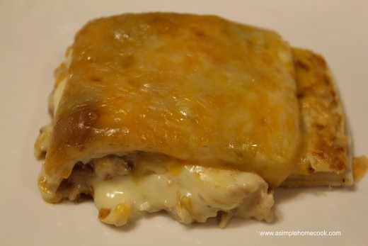 chicken and cheese enchilada