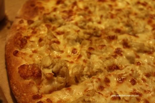 crab pizza slice