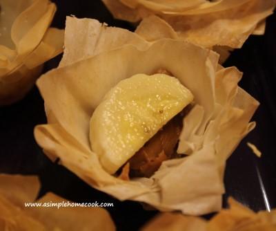 banana and spread tartlet sans cream