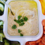Lemony white bean dip and veggies
