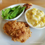 public house chicken with peas and macaroni and cheese