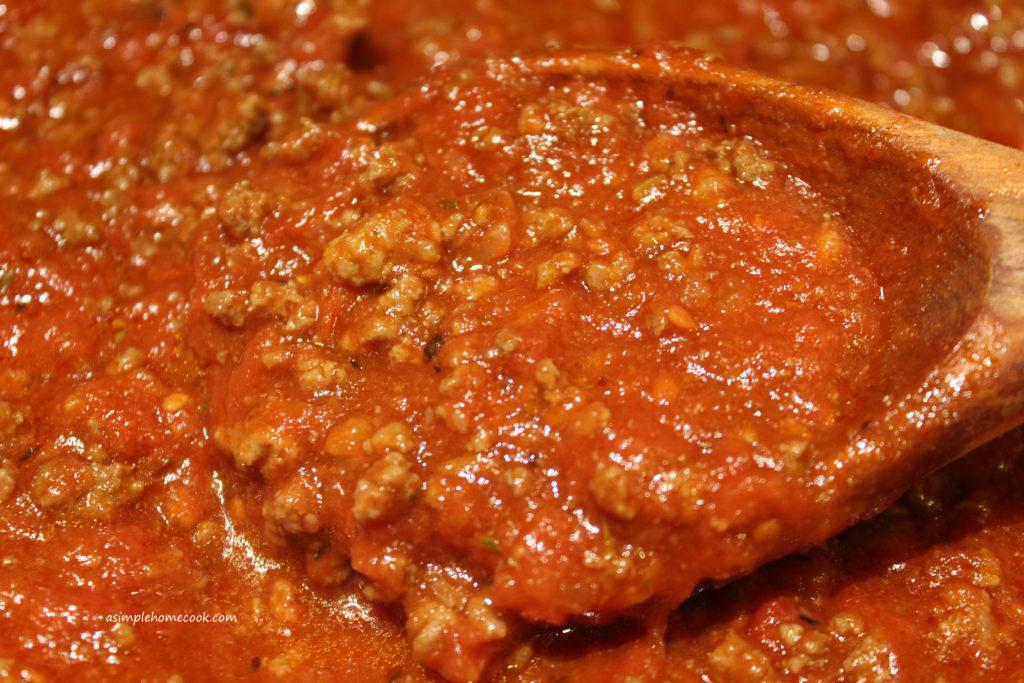 Meat Sauce (for Lasagna, Etc.)