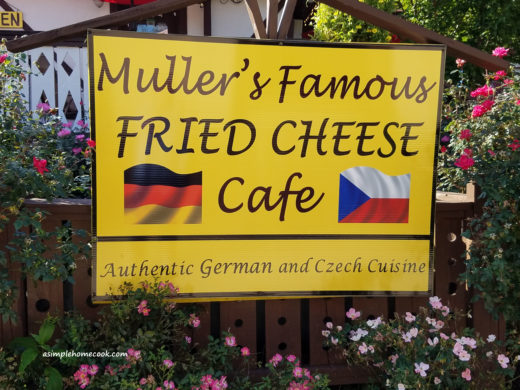 Mueller's Fried Cheese Sign